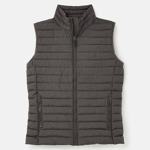 Joules Grey Metal Lightweight Go To Gilet