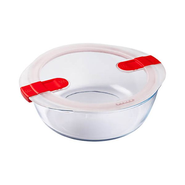 Pyrex Cook & Heat 2.3 Litre Round Dish With Lid