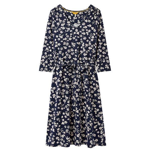 Joules Ariella V Neck Short Sleeve Dress