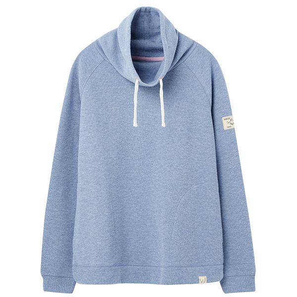 Joules Nadia Blue Marl Ribbed Sweatshirt