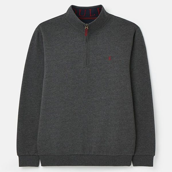 Joules Grey Drayton Clean Quarter Zip Sweatshirt
