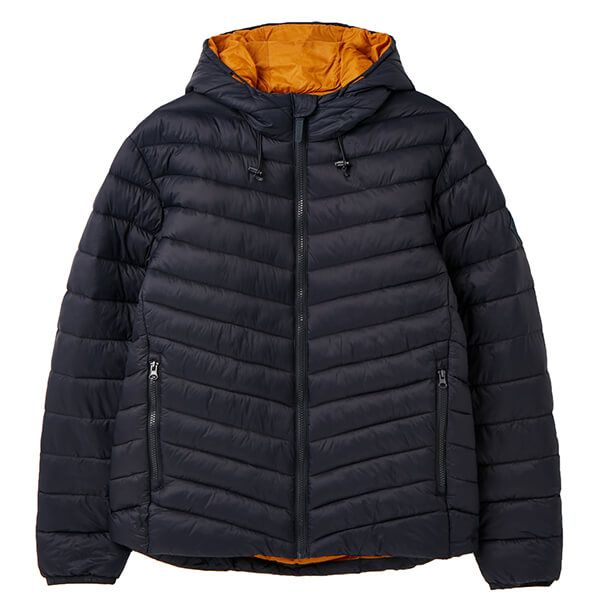 Joules Marine Navy Hooded Go To Hooded Padded Jacket