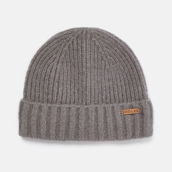Joules Grey Marl Bamburgh Knitted Hat