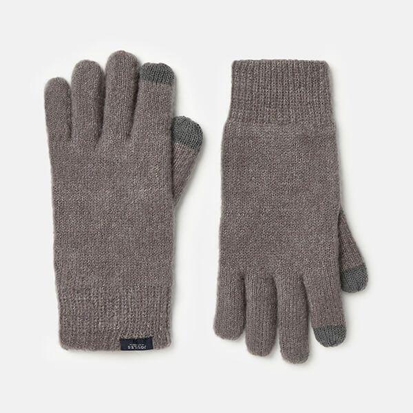 Joules Grey Marl Bamburgh Gloves