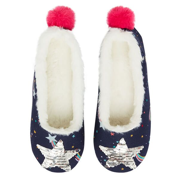Joules Navy Stars Junior Dreama Padabout Slippers