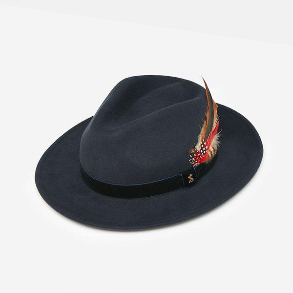 Joules French Navy Fedora Felt Hat