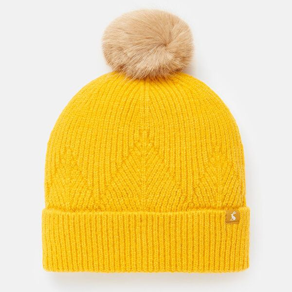 Joules Gold Thurley Knitted Hat