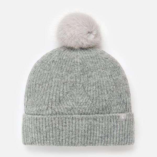 Joules Grey Marl Thurley Knitted Hat