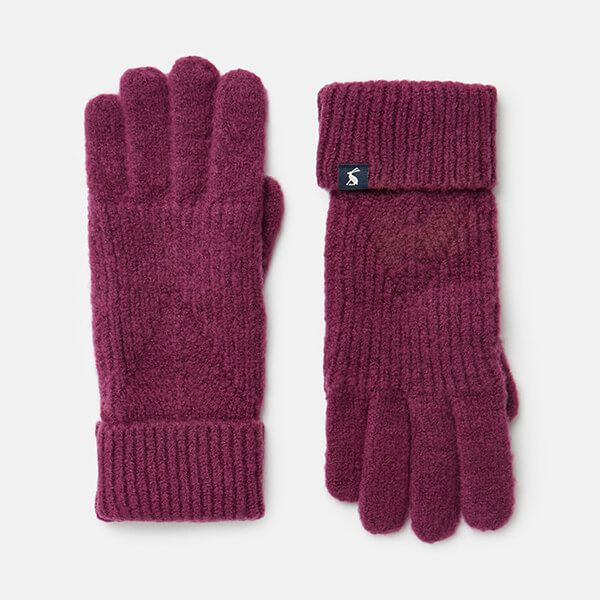 Joules Plum Thurley Knitted Gloves