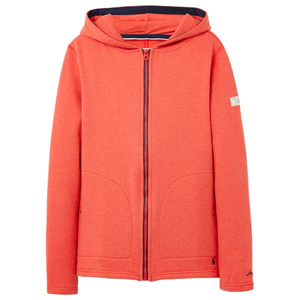 Joules Red Marl Kailee Zip Through Sweatshirt