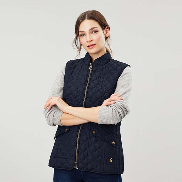 Joules Marine Navy Minx Quilted Gilet