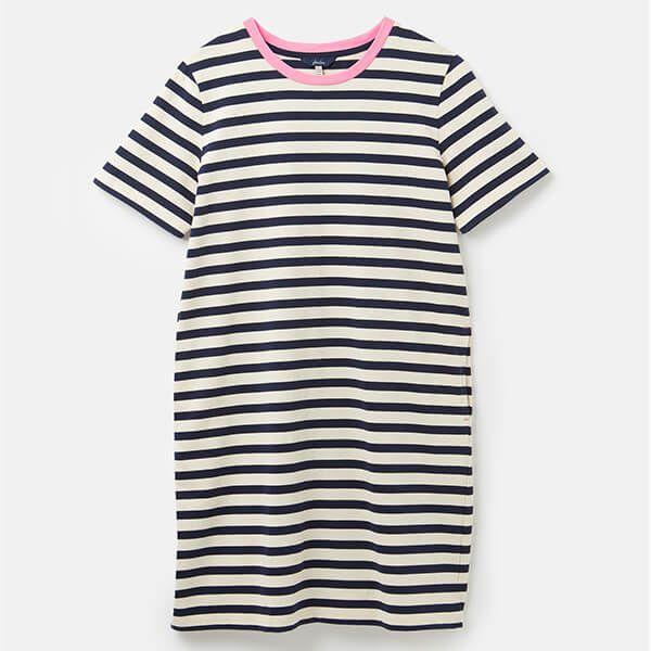 Joules Navy Stripe Liberty A Line Jersey Dress