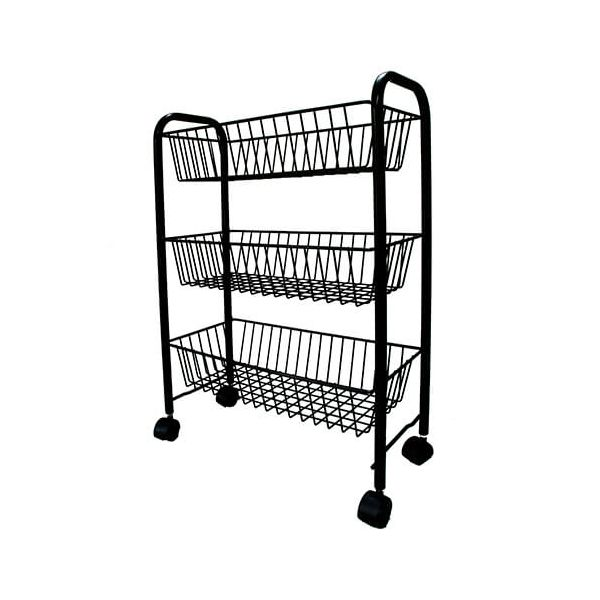 Delfinware Wireware Black 3 Tier Mobile Rack