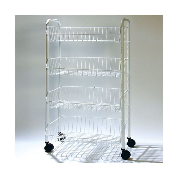 Delfinware Wireware White 4 Tier Mobile Trolley