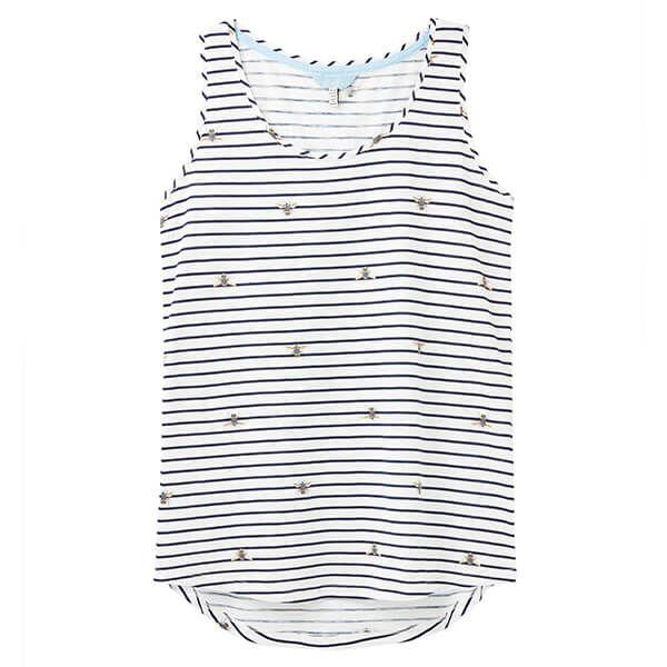 Joules Bee Stripe Bo Print Jersey Vest