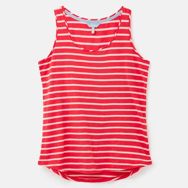 Joules Red Pink Stripe Bo Stripe Jersey Vest