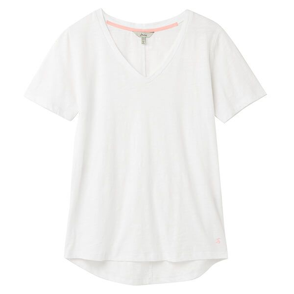 Joules Bright White Celina Drapey V Neck