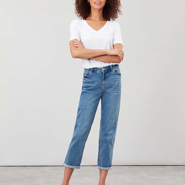 Joules Light Denim Etta Straight Leg Jeans