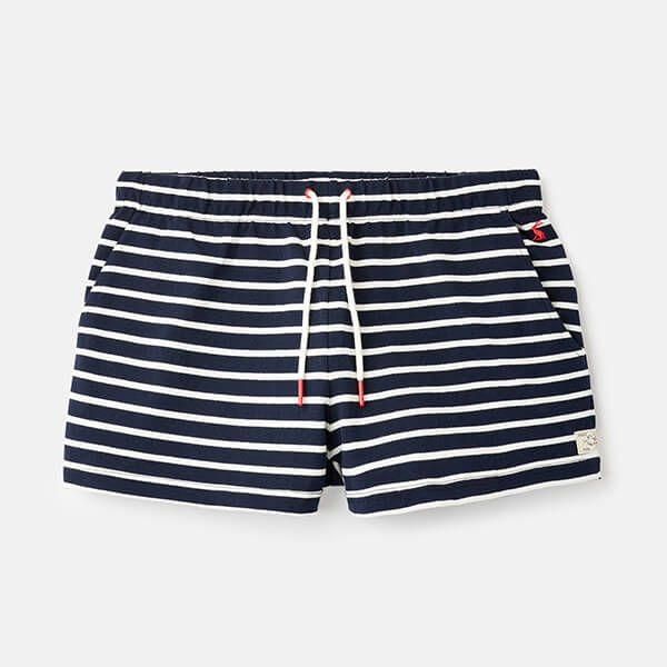 Joules Navy Cream Stripe Elle Jersey Stripe Shorts