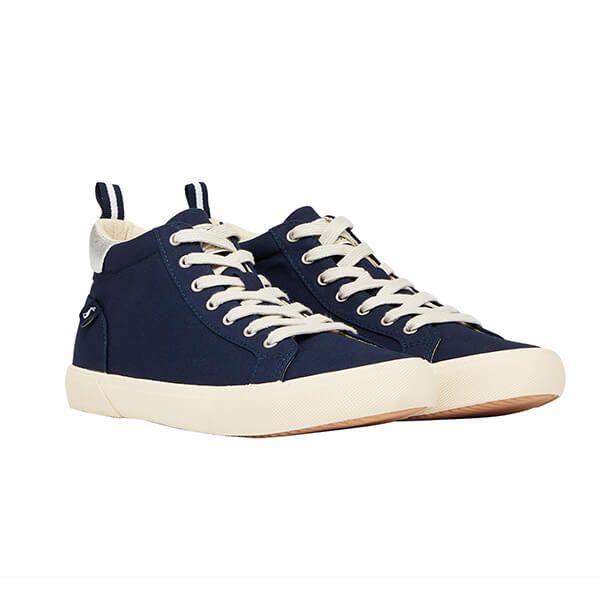 Joules French Navy High Top Trainers