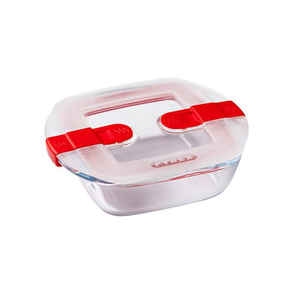 Pyrex Cook & Heat 350ml Square Dish With Lid