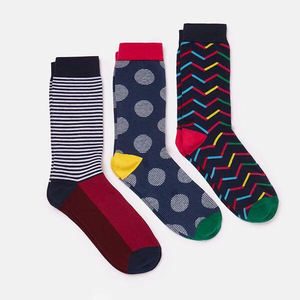 Joules Multi Striking 3 Pack of Socks Size 7 -12