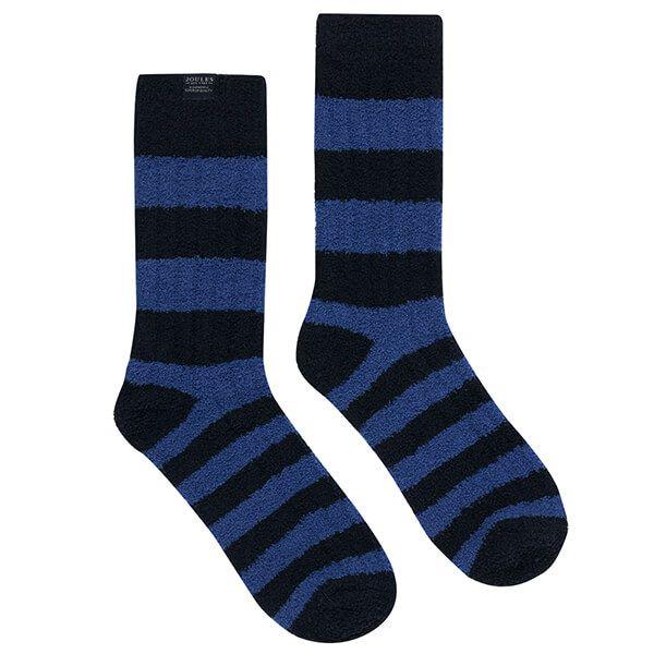 Joules Blue Fluffy Socks Size 7-12