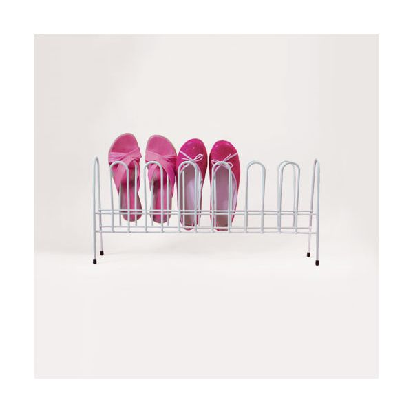 Delfinware Wireware White 7 Pair Shoe Rack