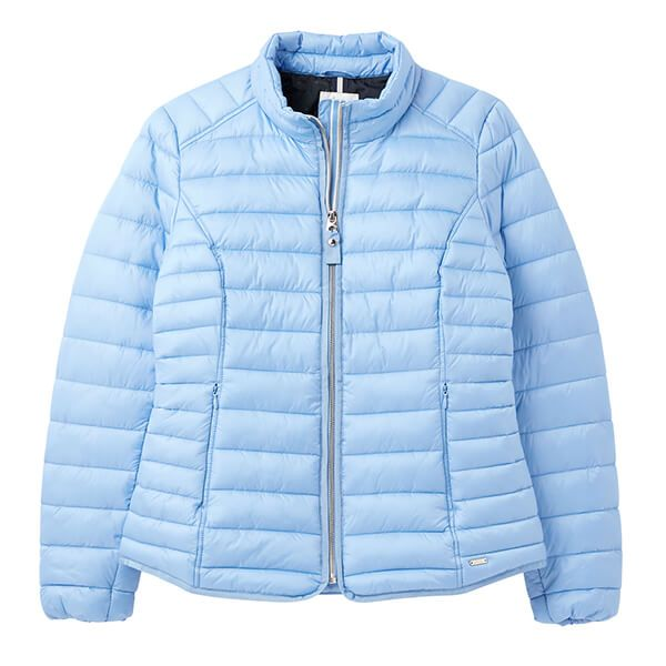 Joules Haze Blue Canterbury Short Luxe Padded Jacket