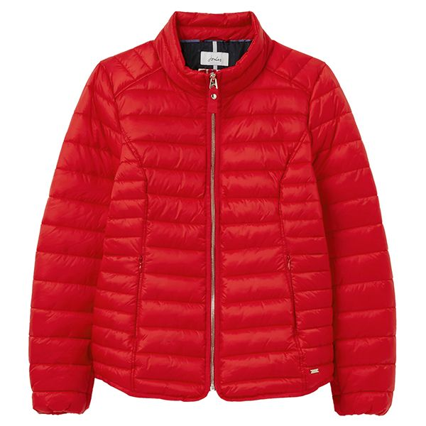 Joules Red Canterbury Short Luxe Padded Jacket