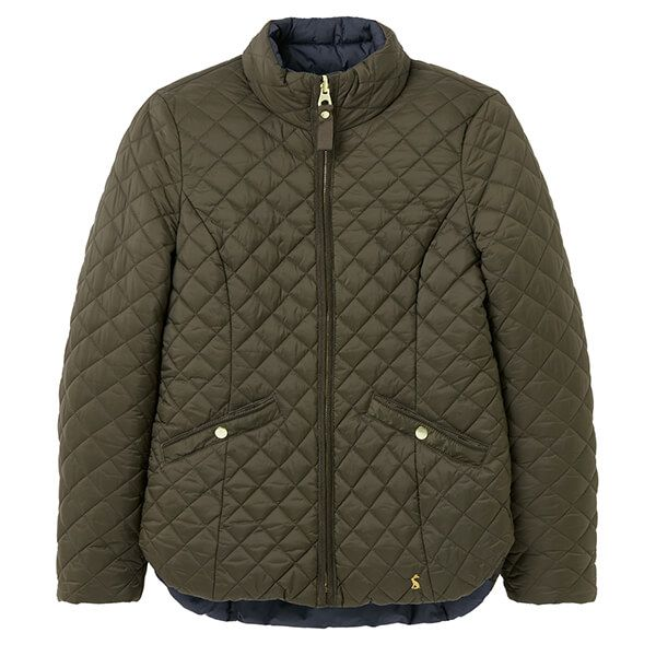 Joules Heritage Green Highgrove Reversible Quilted Jacket
