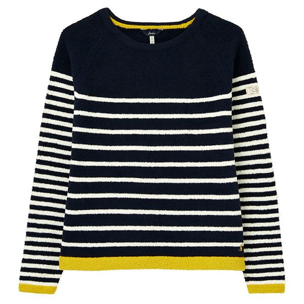 Joules Navy Stripe Seaport Chenille Raglan Jumper