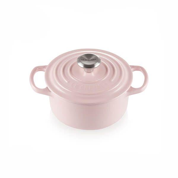 Le Creuset Signature Chiffon Pink Cast Iron 16cm Round Casserole