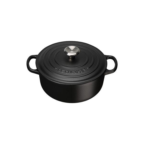 Le Creuset Signature Satin Black Cast Iron 20cm Round Casserole