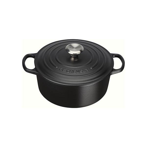 Le Creuset Signature Satin Black Cast Iron 24cm Round Casserole
