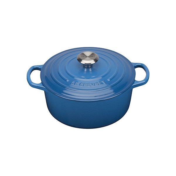 Le Creuset Signature Marseille Blue Cast Iron 24cm Round Casserole