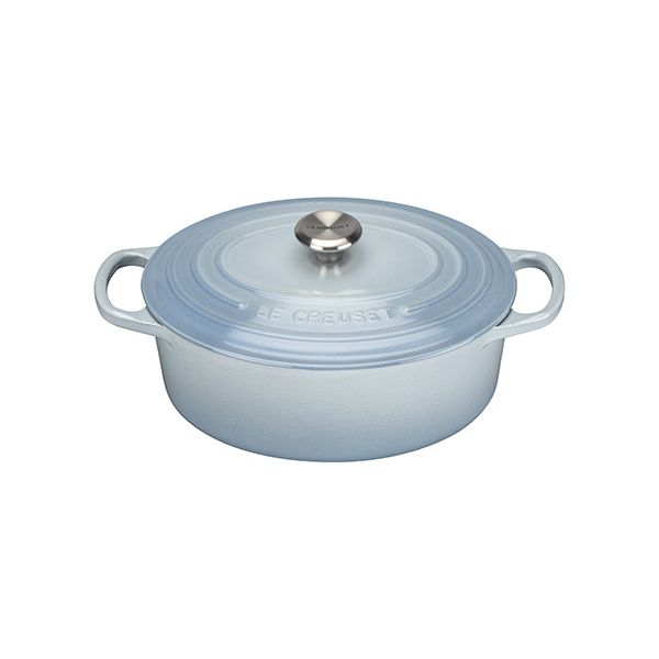 Le Creuset Signature Coastal Blue Cast Iron 25cm Oval Casserole