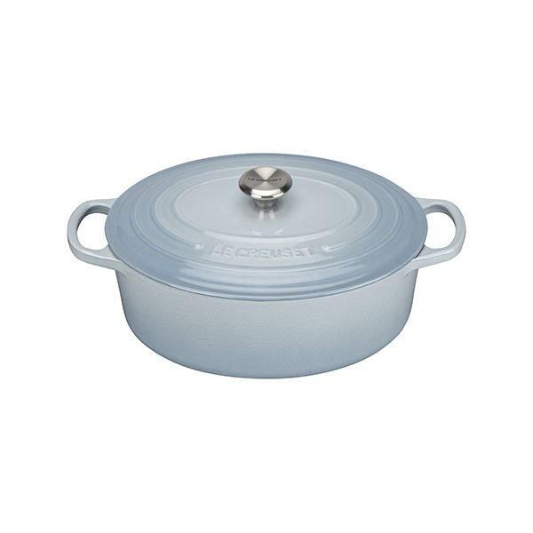 Le Creuset Signature Coastal Blue Cast Iron 27cm Oval Casserole