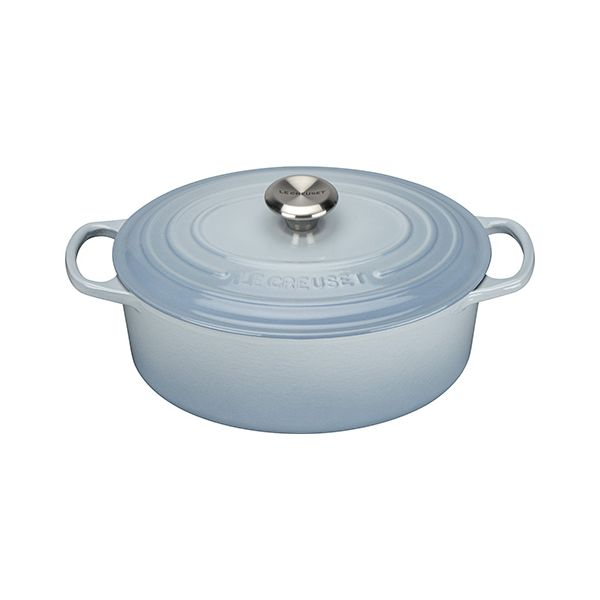 Le Creuset Signature Coastal Blue Cast Iron 29cm Oval Casserole