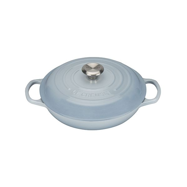 Le Creuset Signature Coastal Blue Cast Iron 26cm Shallow Casserole