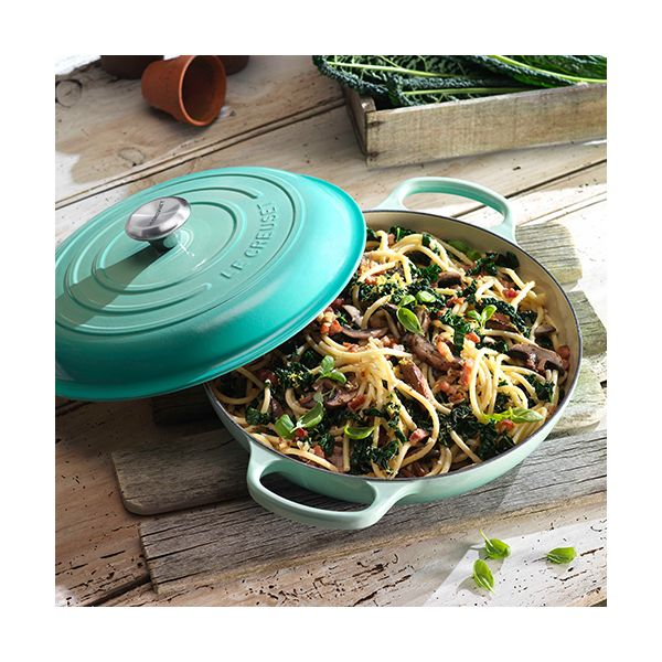 Le Creuset Signature Cool Mint Cast Iron 26cm Shallow Casserole