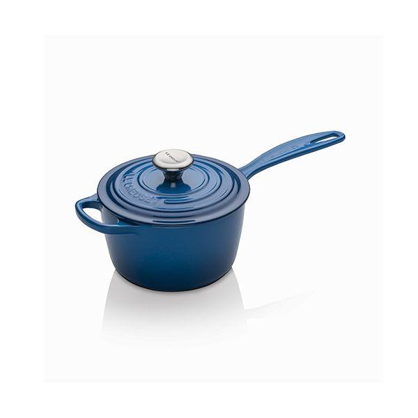 Le Creuset Signature Marseille Blue Cast Iron 16cm Saucepan
