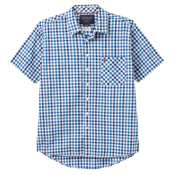Joules Wilson Short Sleeve Classic Fit Check Shirt