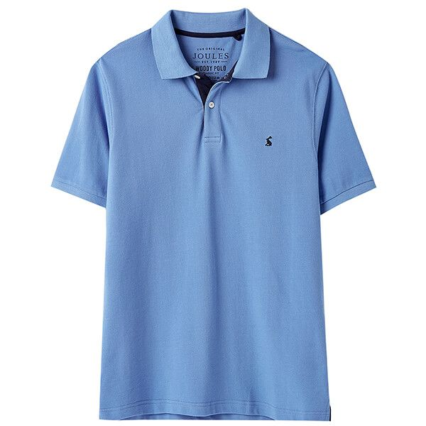 Joules Blue Woody Classic Fit Polo Shirt