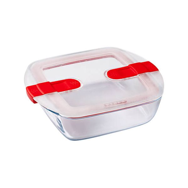 Pyrex Cook & Heat 1 Litre Square Dish With Lid