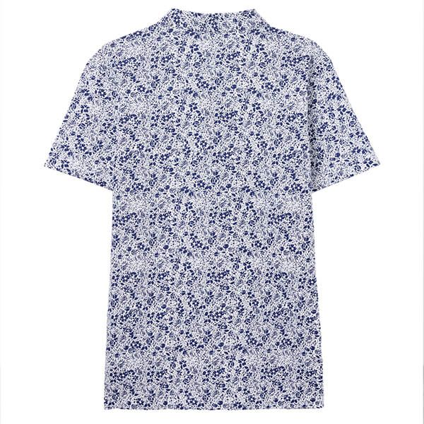 Joules Blue Mini Ditsy Drift Jersey Printed Polo