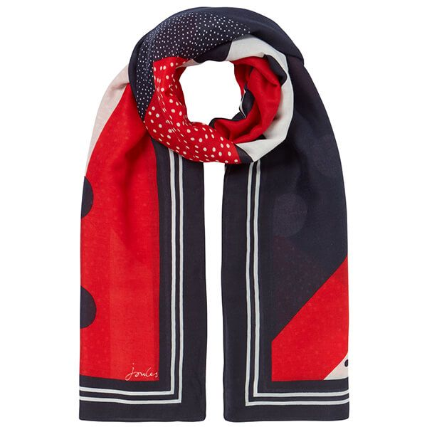 Joules Spot Hotchpotch River Printed Scarf