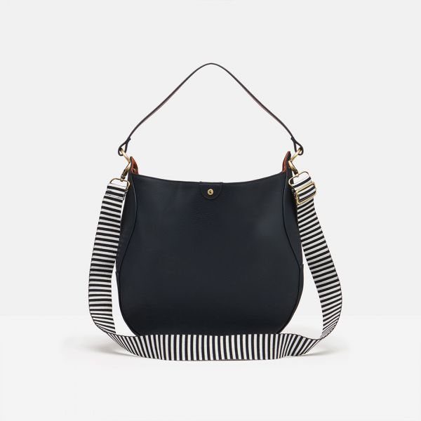 Joules French Navy Tilly PU Hobo Bag