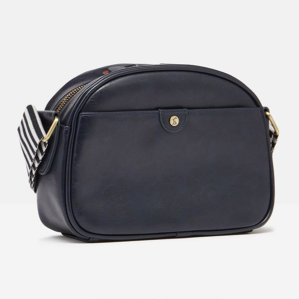 Joules French Navy Tilly Cross Body PU Bag
