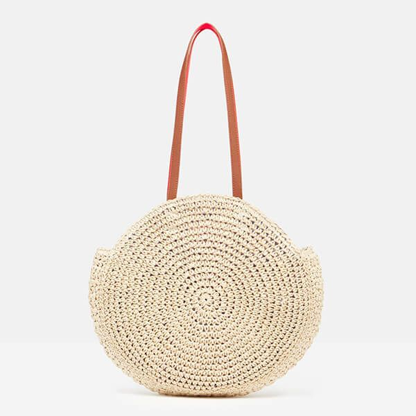 Joules Natural Eva Round Twisted Paper Bag